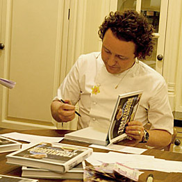 Chef book signing